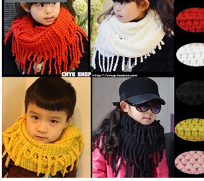 10 Colorways Unisex Kid Winter Acrylic Knitted Snood Scarf
