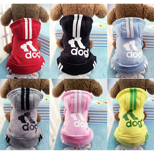 Winter Warm Pet Dog Clothes-  Soft Cotton-  Four-legs Hoodies Outfit - Toyzor.com
