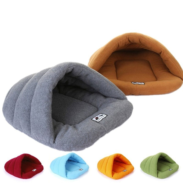 Winter Warm Slippers Style Bed Pet House