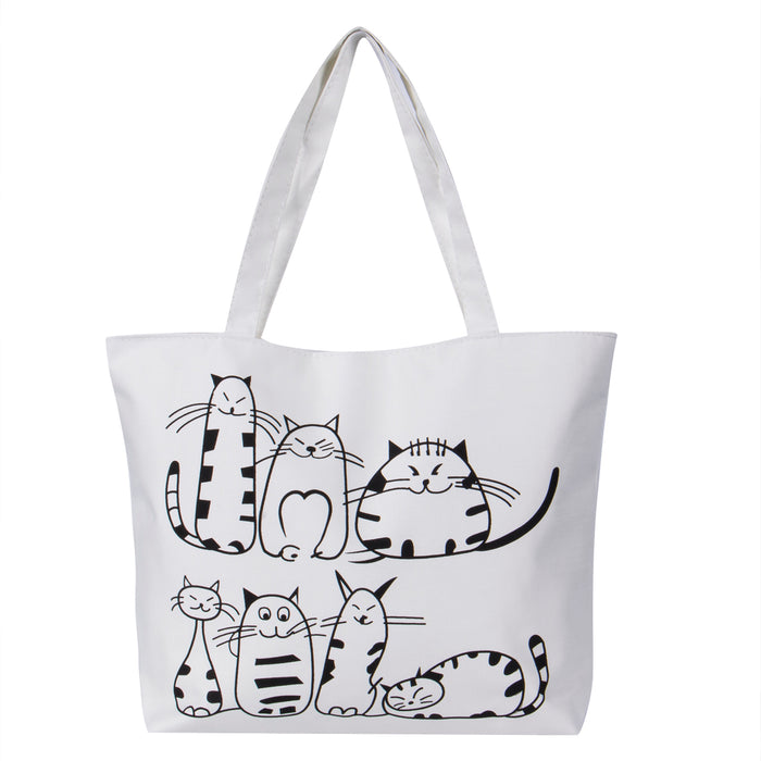 Women Canvas Cartoon Handbag - Toyzor.com