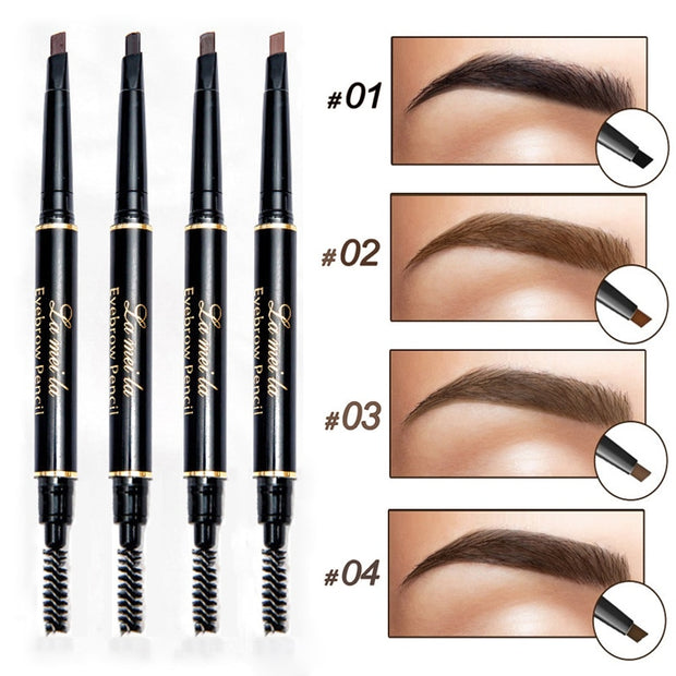 Professional Waterproof Double Head Eyebrow Pencil with Brush