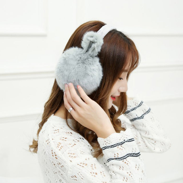 Winter Rabbit Fur Earmuff