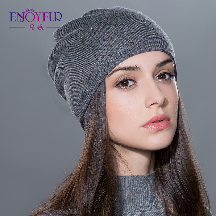 Women's Knitted Wool Beanies Winter Hat