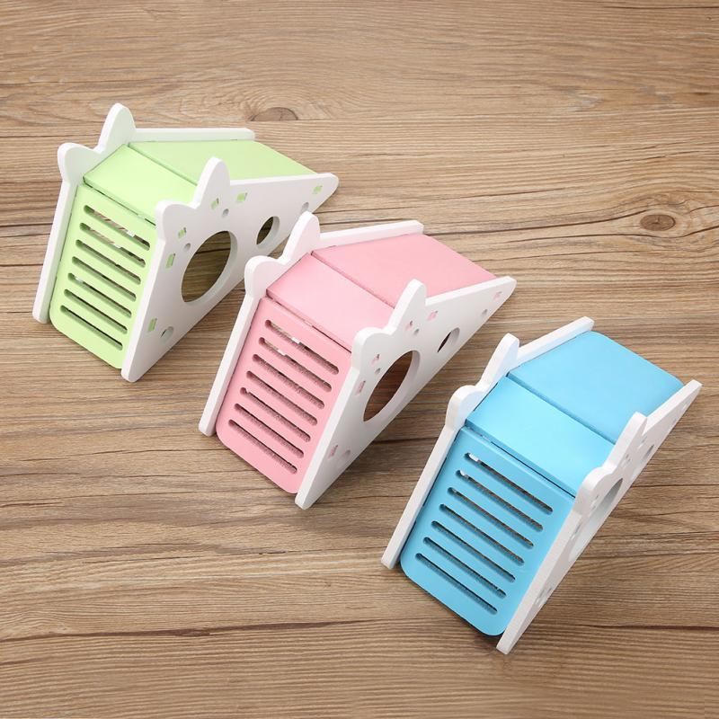 Wooden Hamster House Rest Nest Assembly Climbing Stairs Small Pet Exercise