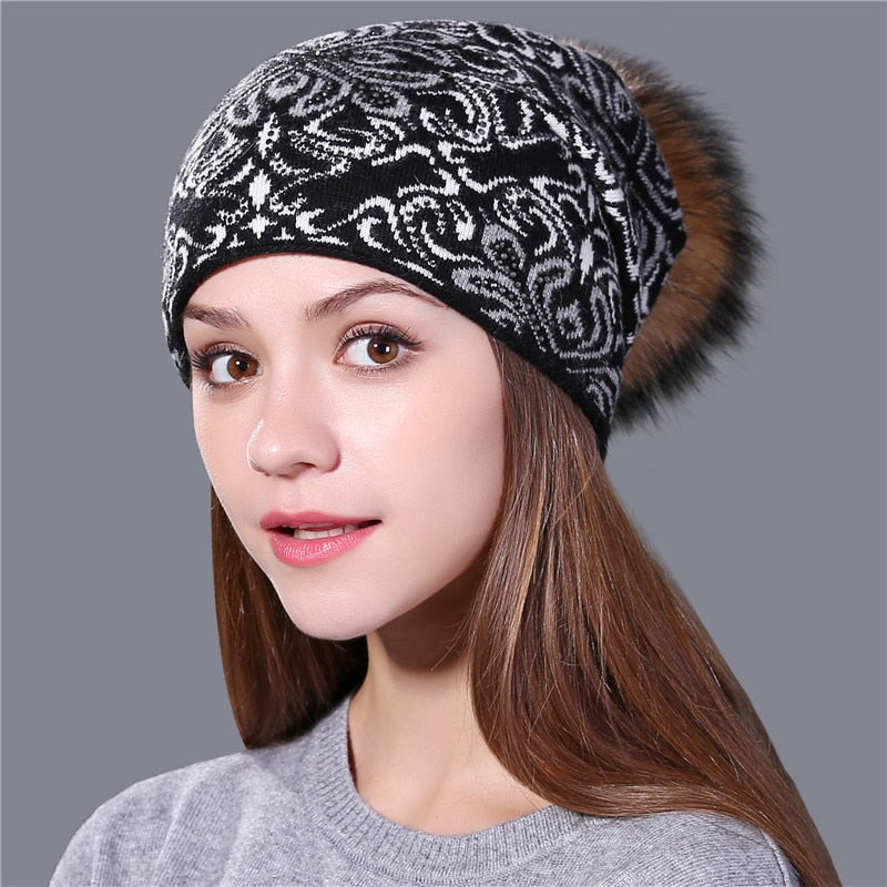 Wool Knitted Winter Hat