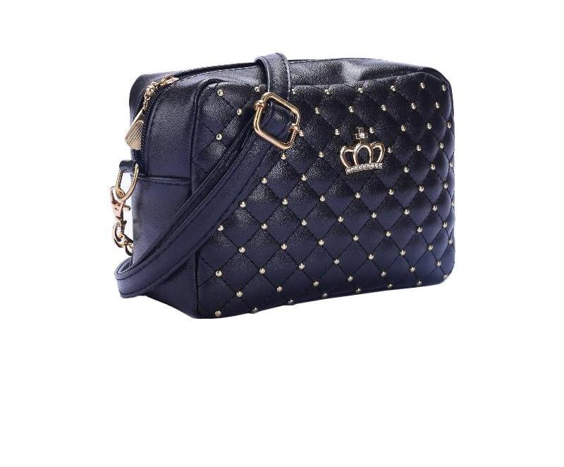 High Quality Leather Rivet Chain Messenger Bag