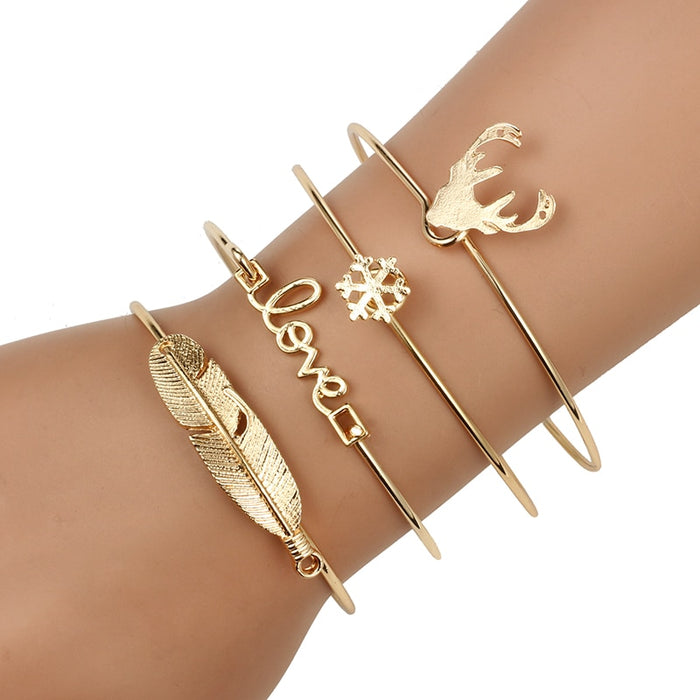 Mix and Match Bracelet Set - 4 Pcs