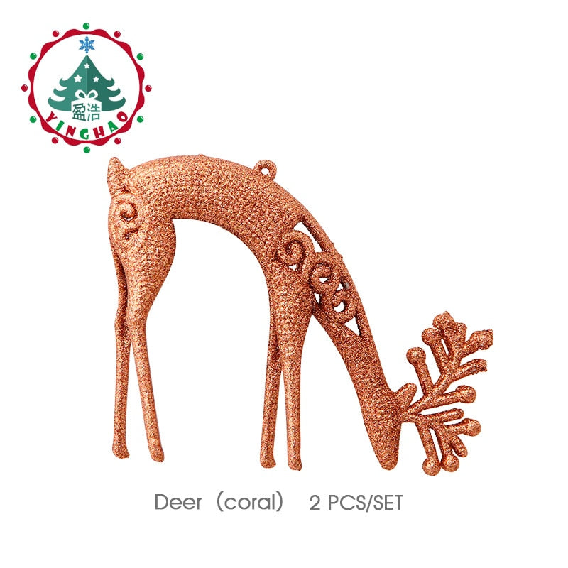 Hanging Deer Christmas Pendant Ornaments Tree Decorations Baubles Drop
