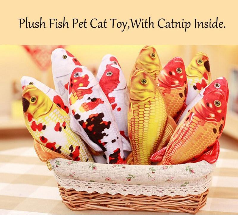 Fish Shape Pets Catnip Scratch Board