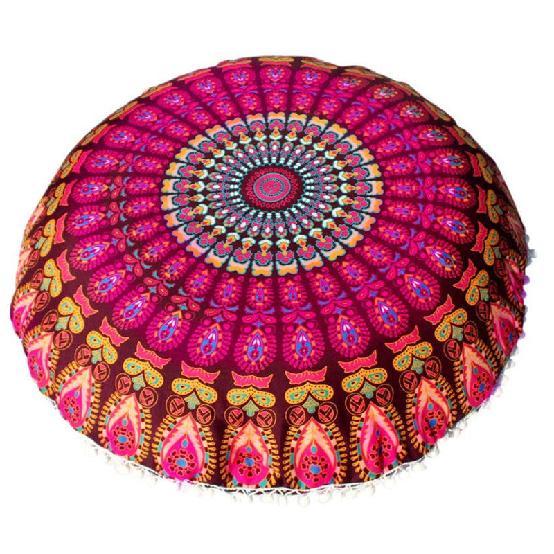 Floor Pillows Round Bohemian Meditation Cushion