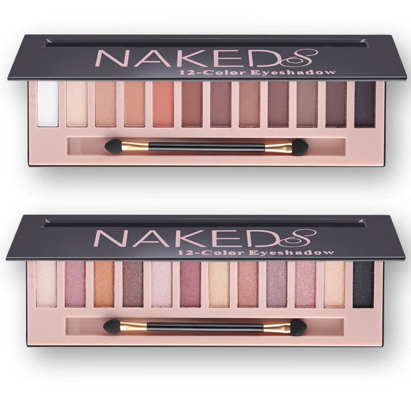 Naked Eye Shadow - 12 Colors - Matte / Shimmer / Mix / Pink - Toyzor.com