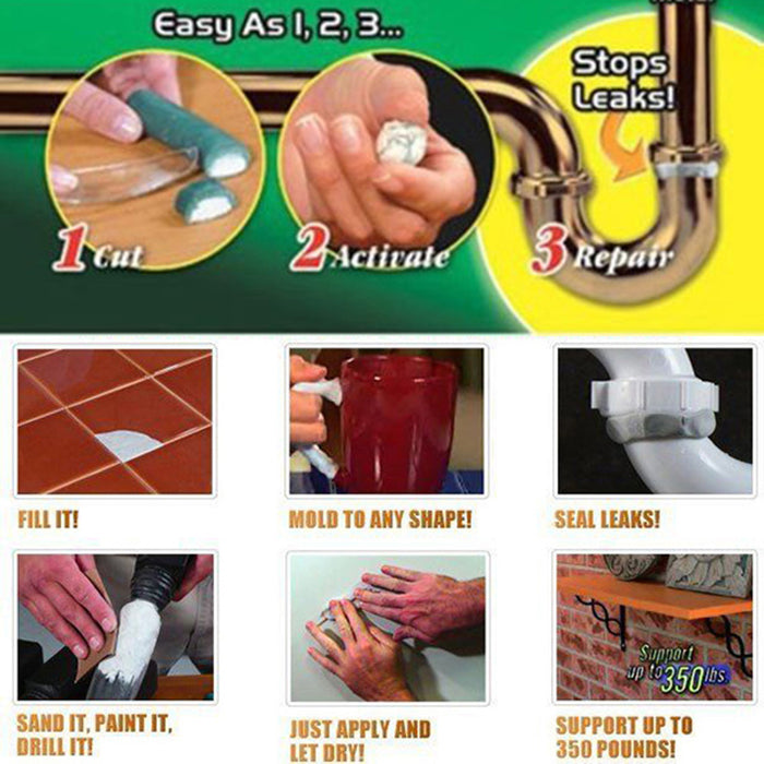 Powerful Epoxy Putty - Adhesive Super Glue - 2Pcs Set - Toyzor.com