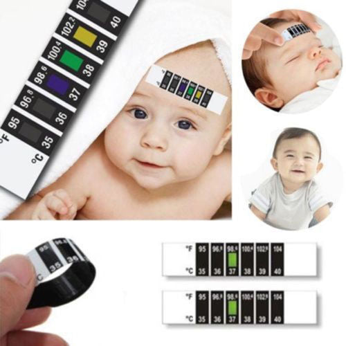 Infant Baby Fever Forehead Strip Head Temperature Test Thermometer Sticker