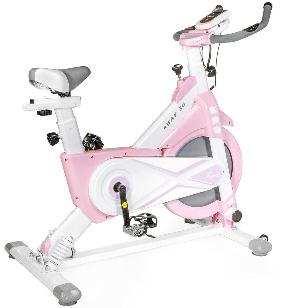 Stationary Exercise Bike Indoor Cycling Bike , Pink