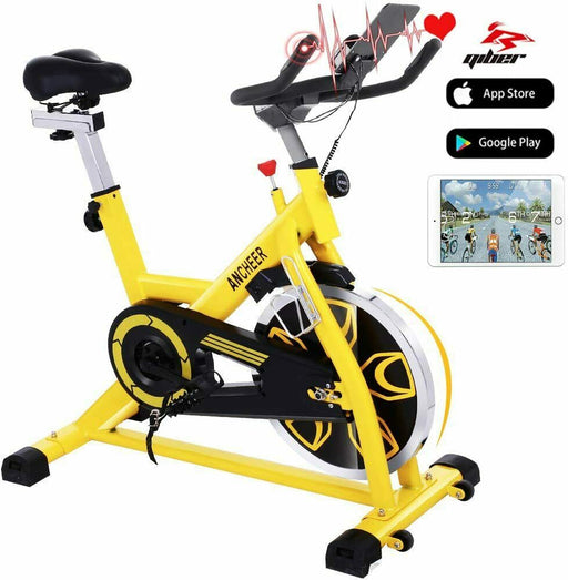 Indoor Cycling Bike Stationary Exercise Bikes Flywheel APP Control