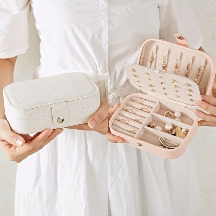 Portable Travel Jewelry Box Organizer