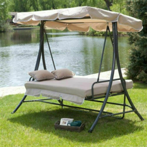 3-Person Convertible Daybed Canopy Swing
