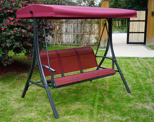 Swing With Canopy Heavy Duty Steel Adjustable Sofa Porch