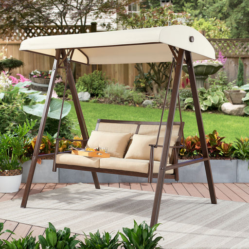 2 Seat Canopy Patio Swing
