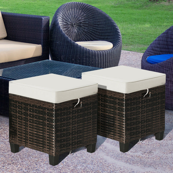 Backyard Rattan Chair Patio Furniture w/ Cushions