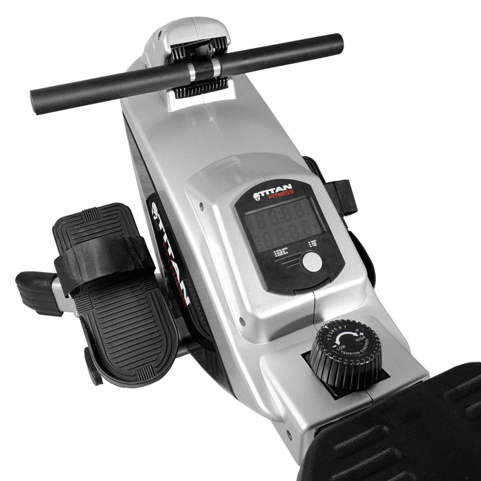 Adjustable Magnetic Resistance Rower Machine Folding w/ LCD Screen