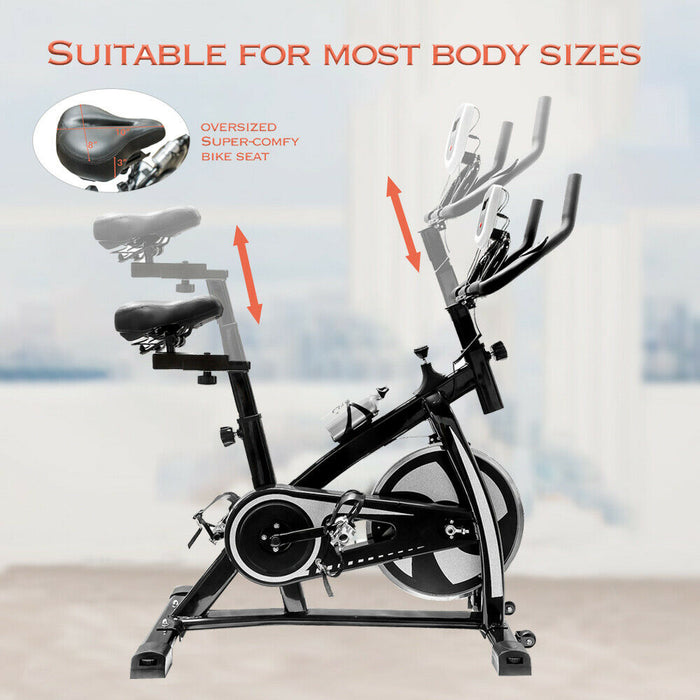 Indoor Cycling Bike Stationary - Exercise Cycle Bike with Water Bottle