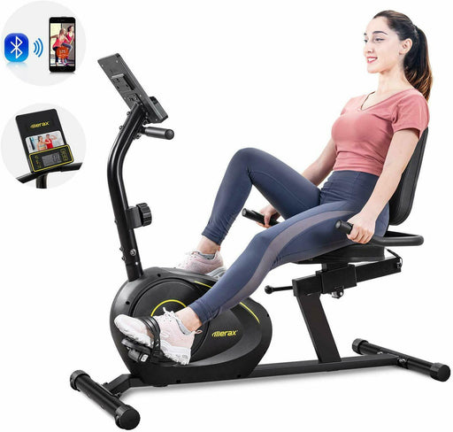 Exercise Bike Magnetic 8-Level Resistance w/Bluetooth Stationary