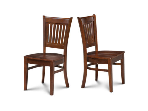KITCHEN DINING CHAIRS WITH WOODEN SEAT - SET OF 4