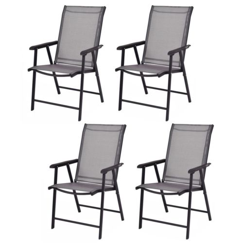 4-Pack Patio Folding Chairs Portable for Outdoor