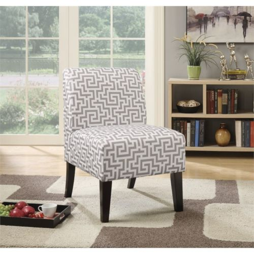 Armless Accent Chair in Gray