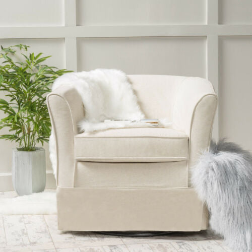 Fabric Swivel Club Accent Chair