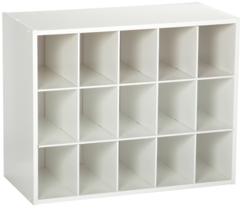 Shoe Organizer 15 Cube Cabinet Stackable (White)