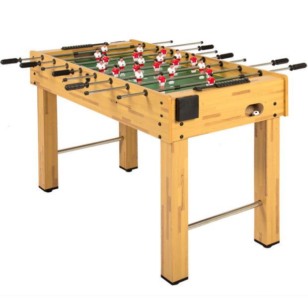 48in Foosball Soccer Arcade Game Table w/ Built-In Cup Holders and 2 Balls