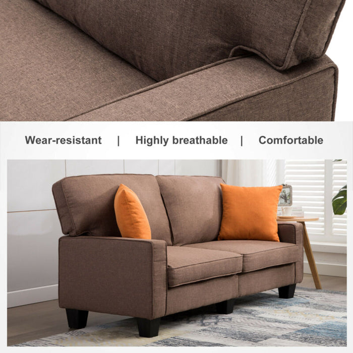 3 Seater Sofa Loveseat Couch Fabric Futon Upholstered
