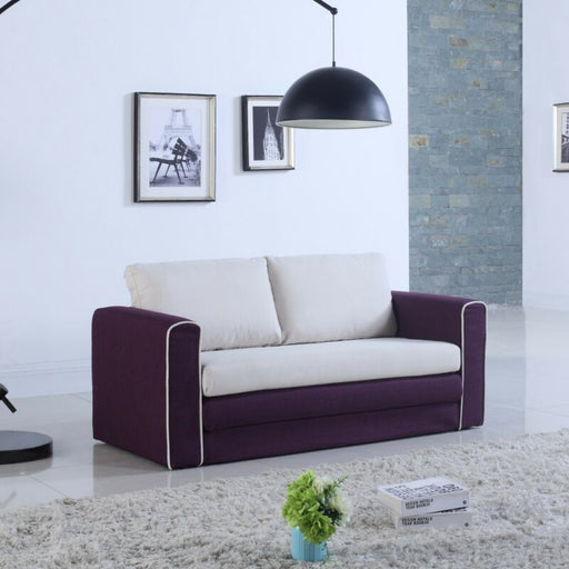 Modern 2 Tone Modular Convertible Sofa Bed
