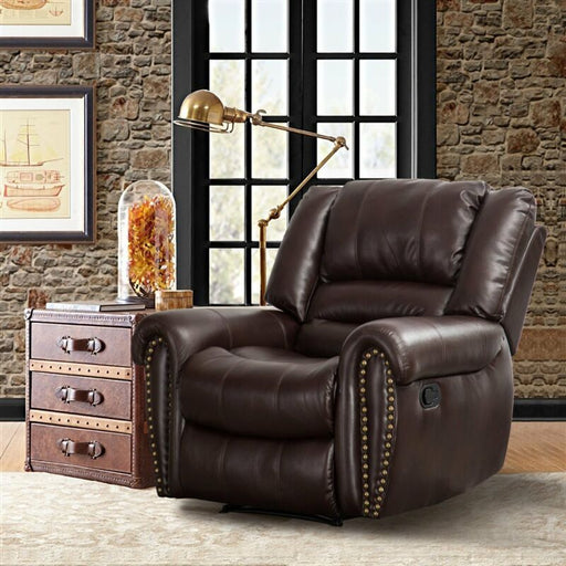 Breathable Bonded Leather Recliner Chair (Brown)