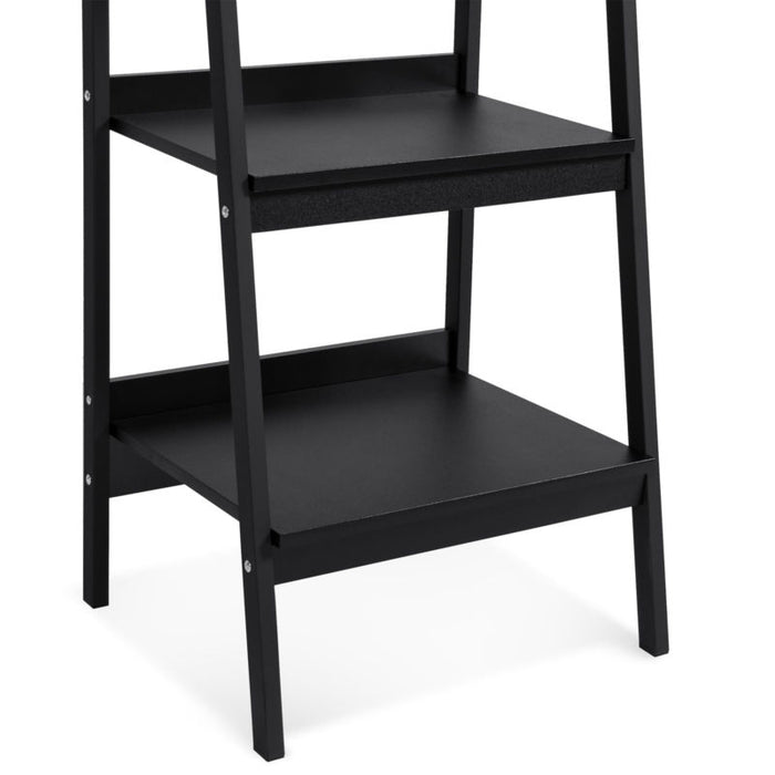 Set of 2 - Black 4-Shelf Open Ladder Bookcase Display