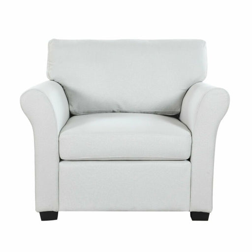 Beige Classic and Traditional Linen Fabric Accent Chair