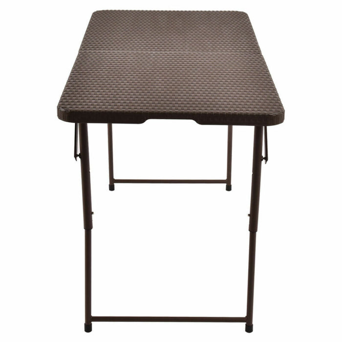 4'  Indoor / Outdoor Folding Table Rattan Portable