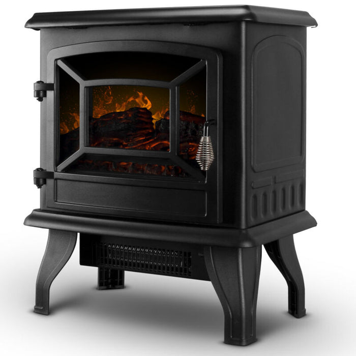 Freestanding Modern Electric Arched Frame Fireplace Heater Stove 1400w