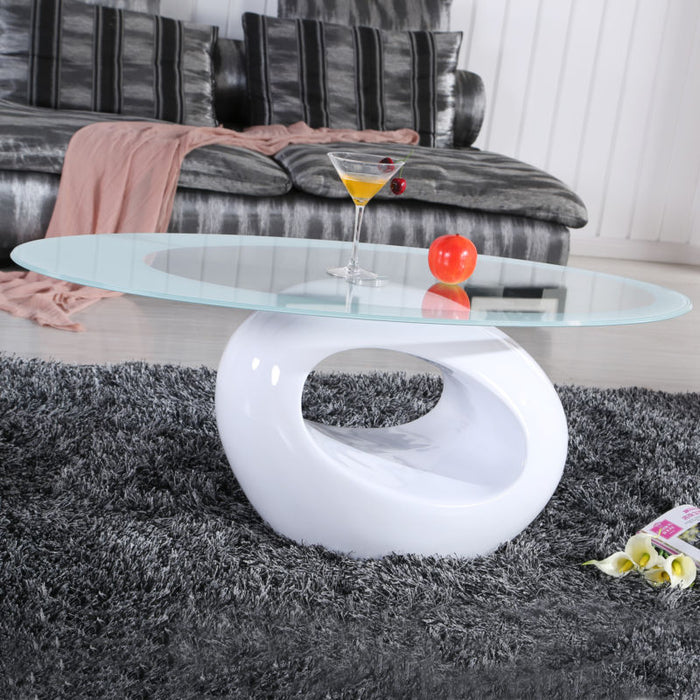 Contemporary Coffee Table - White