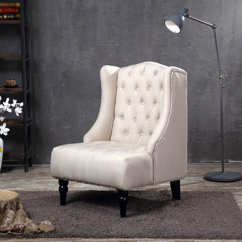 Wingback Accent Chair Tufted Nailhead