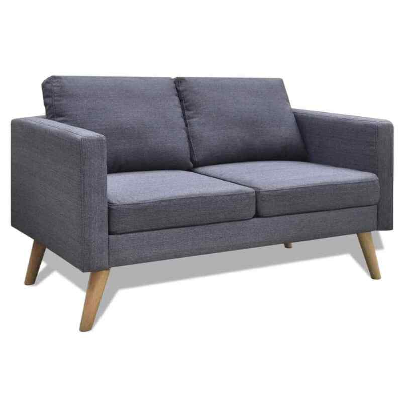 Modern Fabric Sofa 2-Seater Couch – Toyzor