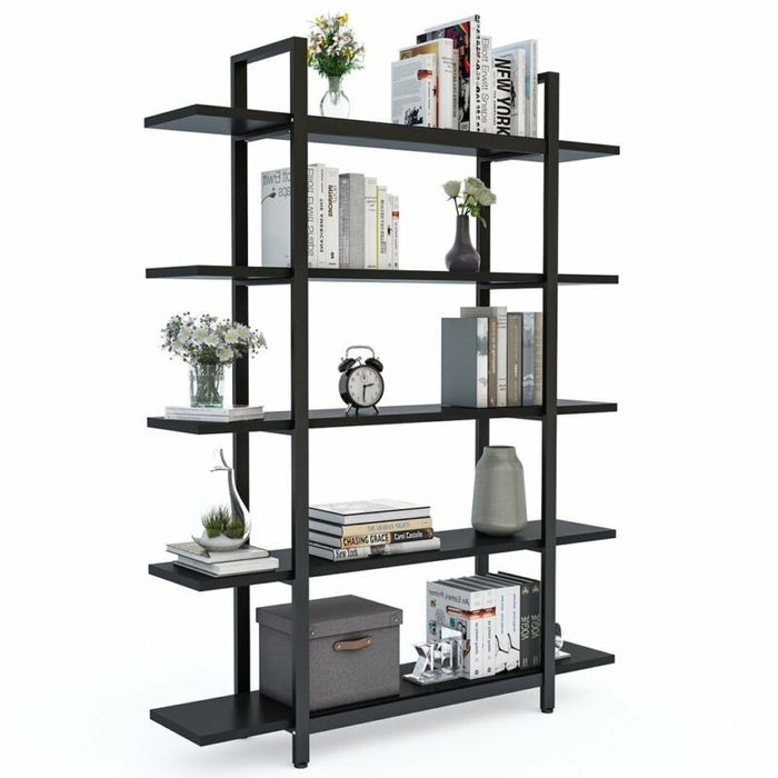 Modern Open Concept Home Office Etagere Display Shelf Bookshelf