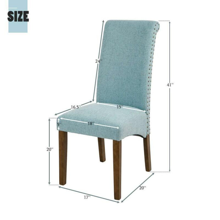 Accent Solid Wood Armless Room Chair Set of 2