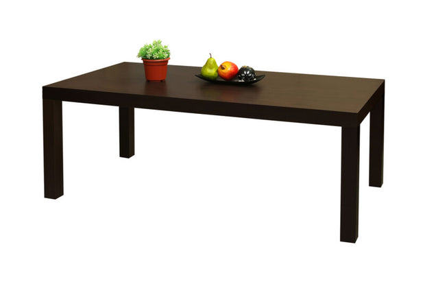 Dark Brown Finish Wood Modern Parsons Coffee Table