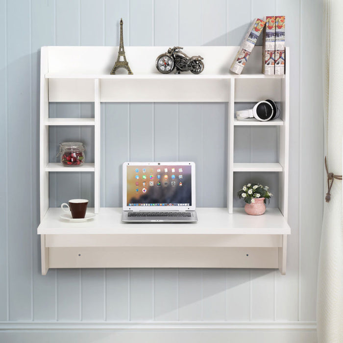 Floating Wall Mounted Office Computer Desk - Toyzor.com