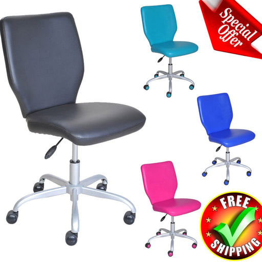 Wheeled Padded Seat Back Adjustable Chair Task