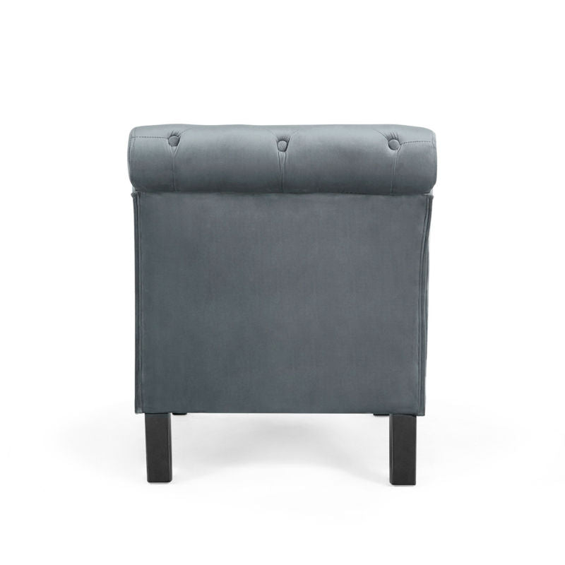 Button Tufted Leisure Furniture Chaise Lounge Gray Sofa Couch