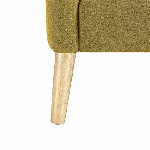 Single Sofa Modern Accent Chair Upholstered Comfy Arm Chair Linen Fabric